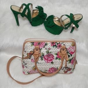 Multi-Colored, Floral Giani Bernini Handbag